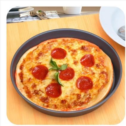 Free shipping Cooking tools 8 inch nonstick cake mold circular tray enhance pizza pan baking pan(China (Mainland))