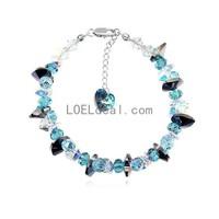 Fashionable Austrian Crystal Beautiful Time Pattern Bracelets - Multicolor