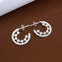 E458 new design Hot Sale!!Free Shipping 925 sterling silver Earring,Fashion 925 silver Jewelry New Style Earrings