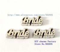 Mix Min Order $10 10pcs Bride   Floating Charms Fit Floating charms lockets FC265