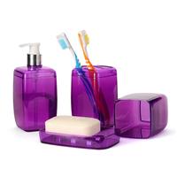 Fashion Simple practical bath wash gargle covered bathroom shelves 4pcs/set