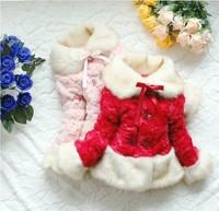Junoesque Toddler Girl Faux Fur Fleece Lapel Coat Kids Winter Warm Jacket