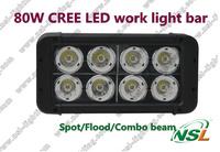 High power 80W led bar working lighting led light bar for vehicles led work light bar