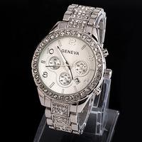 New Women rhinestone watches Free shipping geneva watch Fashion diamond watches Women jewelly clock Luxury Brand Quartz Watch