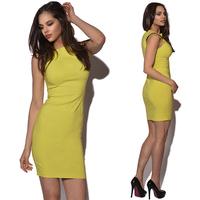 New 2014 Office Lady Work Wear Dress Sleeveless Women Summer Fashion Bodycon Bandage Dresses Drop Ship YK013