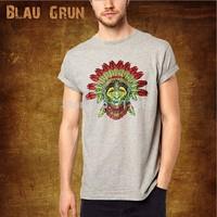Wholesale brand Men T-Shirts,man tshirts, fashion O-neck t shirt S-XL size  blau tee , gruntee , Indian head BL003style