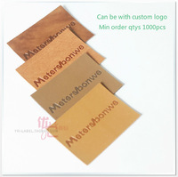 brand label, PU leather label for clothing, engraved/debossed logo, leather patch as custom design 1000pcs/lot
