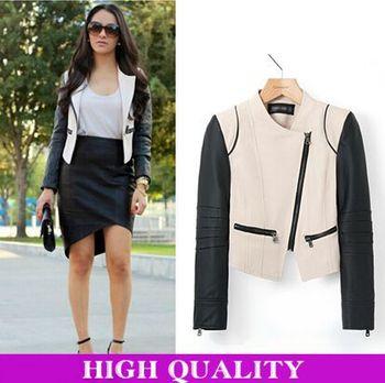 2014 Jackets Женщины Coat Кожа PU является высокотехнологичным и высокосортным продуктом. ...