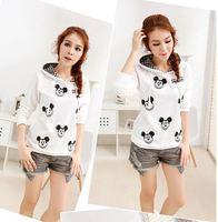 CP-54 2014 Autumn winter Printed sweatshirt Pullovers Mickey mouse women sportswear pullovers harajuku moleton hoodies sport