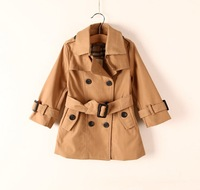 Free shipping In the fall of 2014 new children's double buckle windbreaker children's clothing wholesale trade