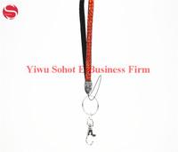 christmas gift polyester crystal rhinestone lanyard for badge holder, keychain
