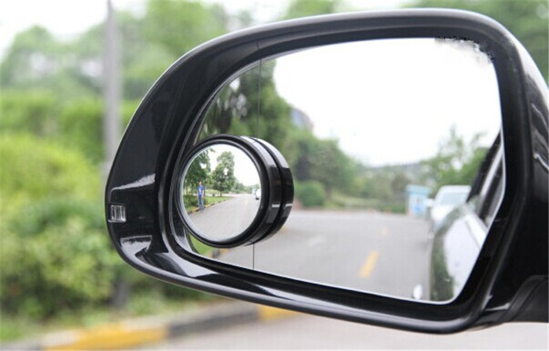 New Driver 2 Side Wide Angle Round Convex Car Vehicle Mirror Blind Spot Auto RearView for all car 2pcs per set(China (Mainland))