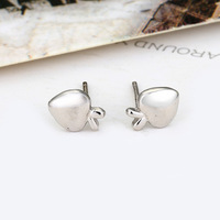 Free shipping ! Stylish design 925 silver ear stud for woman apple shape silver ear stud silver ear ring ED005