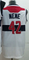 Wholesale Cheap,#42 Nene Men's White/Red 2014 New jersey Basketball Jerseys Sale,Sewing logos