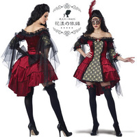 Cool! Hot! 2014 new arrival Halloween masquerade queen of vampire cosplay women costumes, stage performance tempted clothing