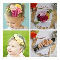 free shipping FEDEX/DHL 500pcs/lot 48 design Infant head band girls headbands toddler Colorful flower Headband Hair Band