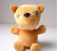 2014 brand new baby kids peppa pig plush toys 17cm George's Dinosaur doll  +18cm Peppa's bear toys