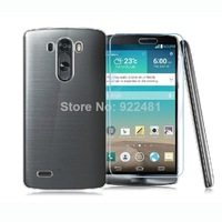 Fantastic! New Arrival Transparent PC Skin Case Cover + Screen Protector Film For LG G3  Free Shipping&Wholesale Feida