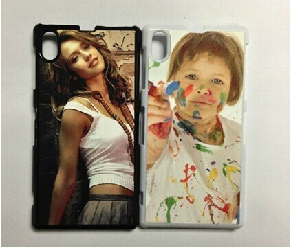 free shipping personality heat transfer phone covers for Z1 L39H customs PC phone cases with metal sheet and taps(China (Mainland))