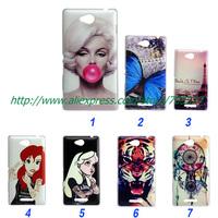 Painting Dream tiger eiffel Tattoo Ariel Little Mermaid Monroe hard cover case for Sony Xperia C S39H c2305