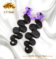6A Unprocessed Peruvian Virgin Hair Body Wave Human Hair Weaves, Virgin Peruvian Human Hair Wavy Nature Black Virgin Hair, 4pcs