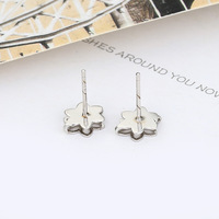 Free shipping ! Stylish design 925 silver ear stud for woman flower shape silver ear stud silver ear ring ED012