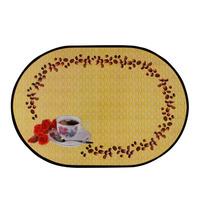 Fashion Holder Kitchen Tableware Coffee Pat Dinning Table Mat  bowl Tea Placemat   1set=12pcs