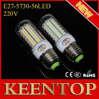 2014 New Arrival E27 SMD Cree 5730 220V Led`Pendant  Lights 56Leds 18W Corn Bulb Solar Lamps Ceiling Spot Lighting 5Pcs/Lot