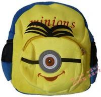 10pcs  New cartoon school bag Despicable Me2 minions children backpacks cute baby bag