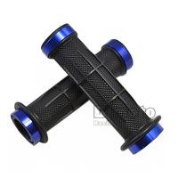 BJ-HB-036  7/8'' 22mm  bule color Aluminum Rubber motorcycle  parts  handle bar  Hand Grips