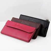 2014 new hot-selling WOMEN's Genuine/cowhide Leather Long wallets/purse/phone case for lady free shipping NQB61