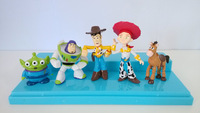 cartoon figures Toy Story models Sherif Woody and Buzz Lightyear for kids room decoration 5 pcs a lot anime model for children