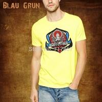 Wholesale 2014 hot  brand Men T-Shirts,man tshirts, fashion O-neck t shirt S-XL size  blau tee , gruntee , Sakyamuni tee