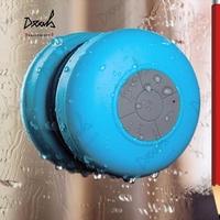 50Pcs/Lot Portable Suction Speake Waterproof Wireless Bluetooth Speaker Shower Car Handsfree Receive Call & Music Suction