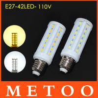 New Arrival E27 12W 110V 127V 130V lamps 5630 SMD 42 leds luminaria 360 degree light Indoor use LED luminaria 1pcs/lot Wholesale