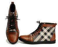 Luxury men shoes Top quality fashion Design Plaid high top men sneakers