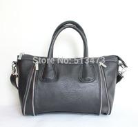 "H012(black)Hot 2014 sale fashion handbag,PU,12x8"",7 different colors & 3 small pocket inside,packing:1pcs/opp bag,Free shipping"