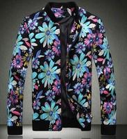 Mens Coats Slim Fit Casual Jacket Man Plus Size Hip Hop Punk Printed Autumn 2014 Columbia Motorcycle Outdoor Coat 5XL 4XL