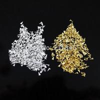 500pcs/pack Triangle DIY Acrylic 3D Metal Nail Art Decorations Rhinestone Metallic DIY Studs Rivets Gold Silver Optional Salon
