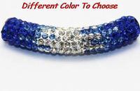 10 pcs/lot 45cm best hot new fasion bracelet necklace gradient tube Shamballa beads long bending Crystal free shipping new