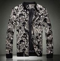 New Mens Coats Slim Fit Casual Jacket Man Plus Size Hip Hop Punk Printed Autumn 2014 Columbia Motorcycle Outdoor Coat 5XL 4XL