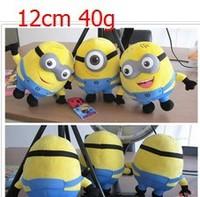 10sets=30pcs NEW Despicable ME2 Yellow Minions Plush Stuffed TOY Soft Figure DOLL 40g 12cm