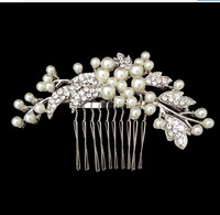 Wedding  hair comb wholesale 100% guaranteed noble peal crystal  wedding Hairpins bridal hair  jewelry