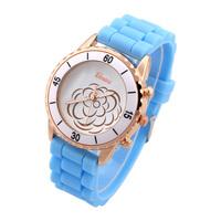 Quartz Watches Brand Geneva Analog Women Dress Watch Silicone Smart Wristwatches Clock Montre Femme Fashion watch New 2014 Hot