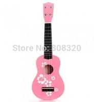 Free shipping!!! 21inch Wood Ukulele Acoustic 4 String 12 Frets Guitar Flower Print Kids Practice