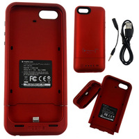 2100mAh Brand Case External Power Case Rechargeable Battery Case Charger For iphone5 With Retail Package via SG post