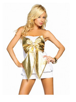 top quality free shipping drop shipping sexy lingerie set hot Metallic Slinky Tube Mini Dress