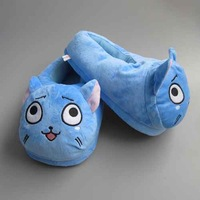 Fairy Tail Happy Plush Slipper Shoes Cartoon Winter Slippers Indoor Bedroom Shoes 28cm