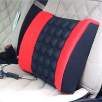4 Colors Car electric massage lumbar support vehienlar household cushion car cushion tournure auto supplies KF-C1009