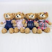 New Birthday Valentines Gift Boys Girls Baby Bear Wedding Plush Toy Teddy Bear Doll Flower Grid